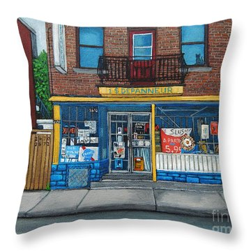 Rue Du Centre Depanneur Throw Pillow