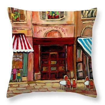 Rue St Paul Montreal Throw Pillow by Carole Spandau