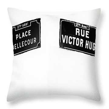 The Corner Of Place Bellecour And Rue Victor Hugo Throw Pillow