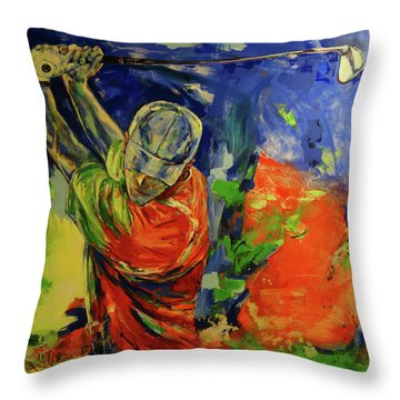 Rueckschwung   Backswing Throw Pillow