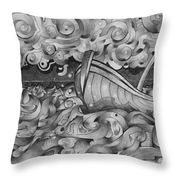 Ruff Sea Throw Pillow