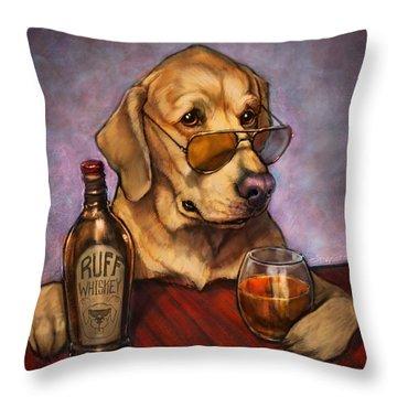 Ruff Whiskey Throw Pillow by Sean ODaniels