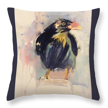 Ruffled Throw Pillow by Barbara Tibbets