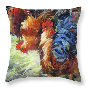 Ruffled Feathers Throw Pillow by Rae Andrews