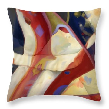 Ruffles And Flourishes Throw Pillow by Constance Krejci