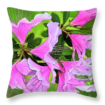 Throw Pillow featuring the digital art Ruffles by Gina Harrison
