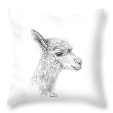 Throw Pillow featuring the drawing Rufus by K Llamas
