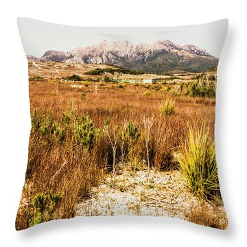 Rugged Australian Bushland Throw Pillow