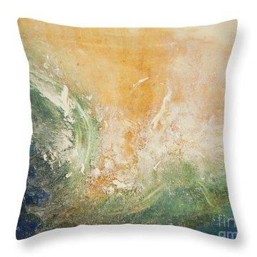 Rugged Coast Aerial View Throw Pillow