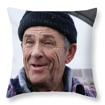 Rugged Fisherman Throw Pillow