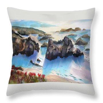 Marin Lovers Coastline Throw Pillow