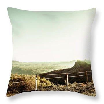 Rugged Mountain Trail Throw Pillow