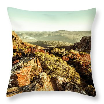 Rugged Mountaintops To Regional Valleys Throw Pillow