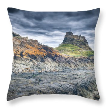 Throw Pillow featuring the photograph Rugged Shoreline by Ray Devlin