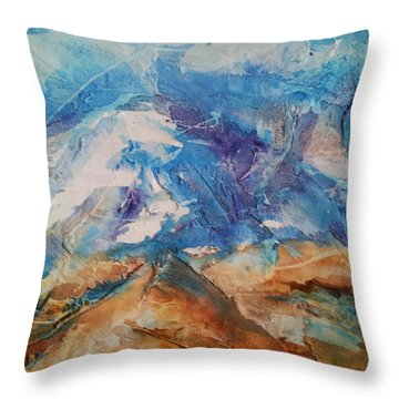Rugged Terrain Throw Pillow by Becky Chappell