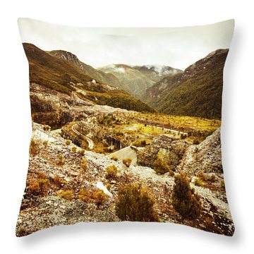 Rugged Valley Wilderness Throw Pillow