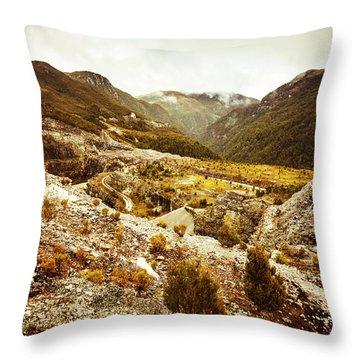 Rugged Valley Wilderness Throw Pillow