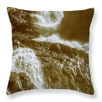 Rugged Water Rapids Throw Pillow