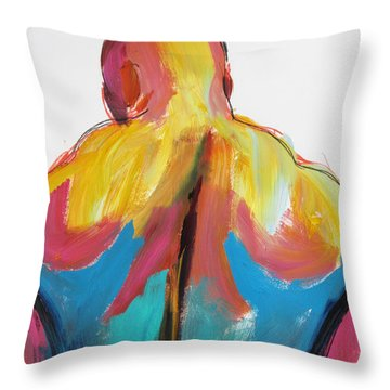 Rugger Man Broad Back Throw Pillow by Shungaboy X