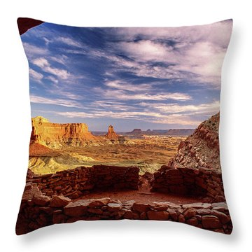 Ruin With A View Throw Pillow