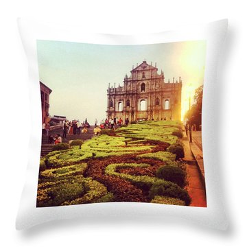 Ruinas De Sao Paulo Macau  Throw Pillow