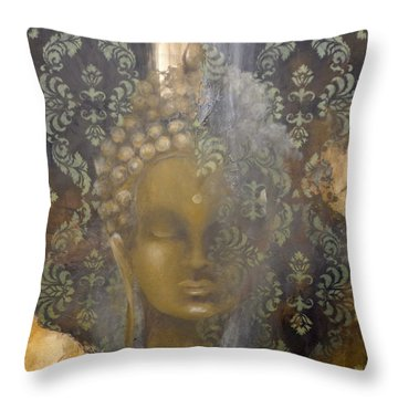 Ruined Palace Buddha Throw Pillow