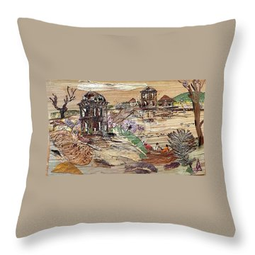 Ruined Structures  Throw Pillow by Basant Soni