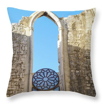 Ruined Throw Pillow