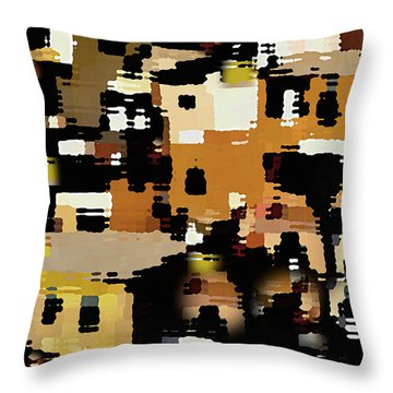 Ruins, An Abstract Throw Pillow