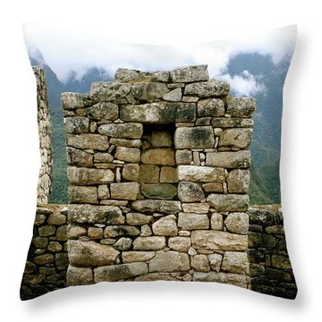 Ruins In A Lost City Throw Pillow