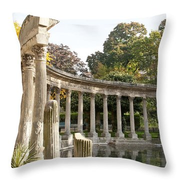 Throw Pillow featuring the photograph Ruins In The Park by Victoria Harrington