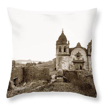 Ruins Of Carmel Mission, Monterey, Cal. Circa 1882 Throw Pillow