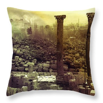 Ruins Of Jurash Throw Pillow