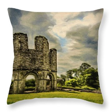 Ruins Of Mellifont Abbey Throw Pillow by Jeff Kolker