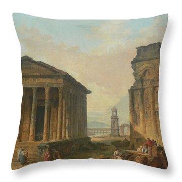 Ruins Of Nimes  Throw Pillow