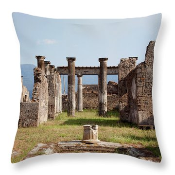 Ruins Of Pompeii Throw Pillow by Ivete Basso Photography