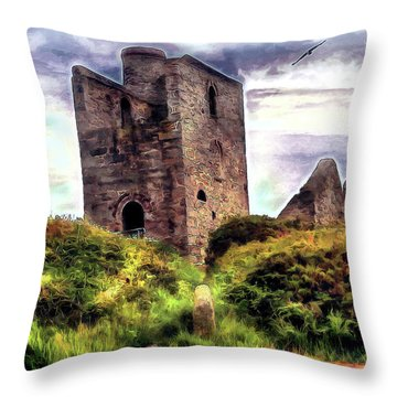 Ruins Of The Old Tin Mine Throw Pillow