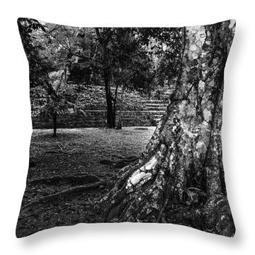 Throw Pillow featuring the photograph Ruins Of Tikal by Yuri Santin