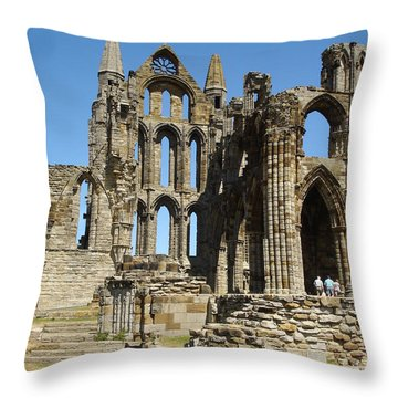 Ruins Of Whitby Abbey Throw Pillow