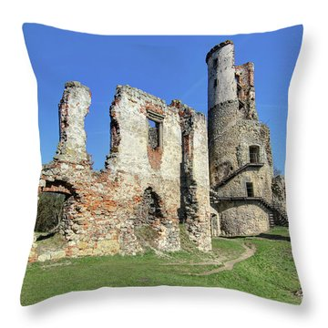 Throw Pillow featuring the photograph Ruins Of Zviretice Castle by Michal Boubin