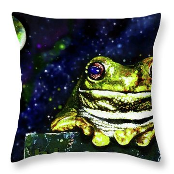 Ruler Of The Cosmos  Throw Pillow