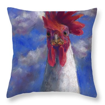 Throw Pillow featuring the pastel Ruler Of The Roost by Billie Colson