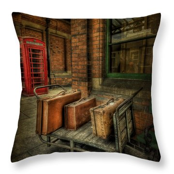 Rules Of Travel Throw Pillow by Evelina Kremsdorf