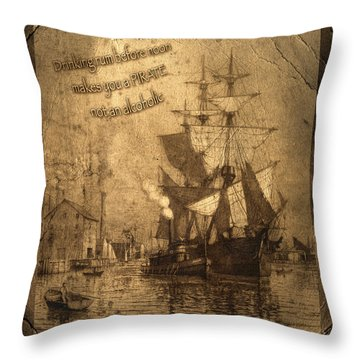 Rum Is The Reason Throw Pillow