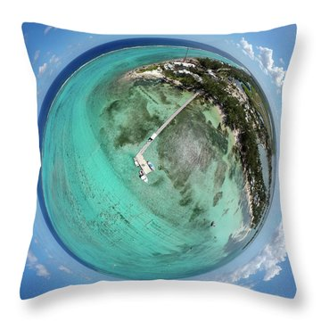 Throw Pillow featuring the photograph Rum Point Little Planet by Adam Romanowicz