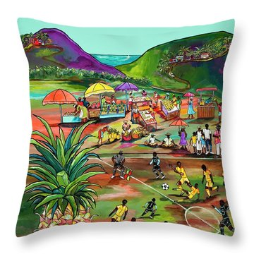 Throw Pillow featuring the painting Rum With The Pineapple by Patti Schermerhorn