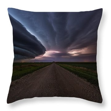 Throw Pillow featuring the photograph Run by Aaron J Groen