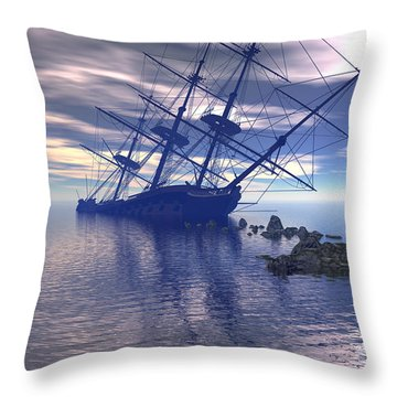 Run Aground Throw Pillow