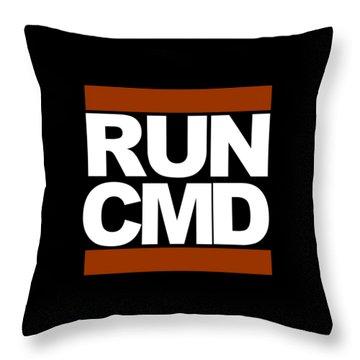 Run Cmd Throw Pillow
