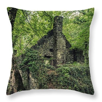Run Down Mill Throw Pillow